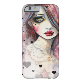 Gothic Fantasy Girl with Hearts iPhone 6 case