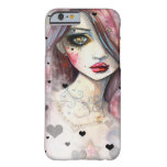 Gothic Fantasy Girl with Hearts iPhone 6 case Barely There iPhone 6 Case