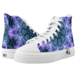 Gothic Fantasy Mandala Printed Shoes