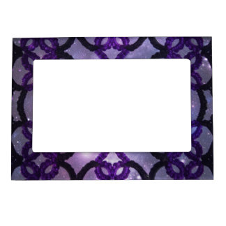 Gothic Fantasy Purple Tatting Lace Cosmos Magnetic Frame