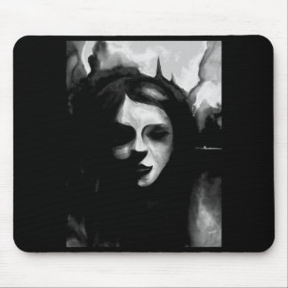Gothic fire of London watercolour mouse mat