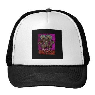 Gothic Flamingo Love neon black boarder Cap