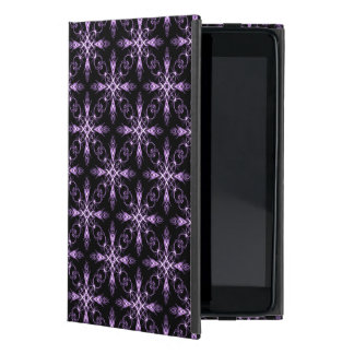 Gothic Floral Black and Purple Fractal Art Cover For iPad Mini