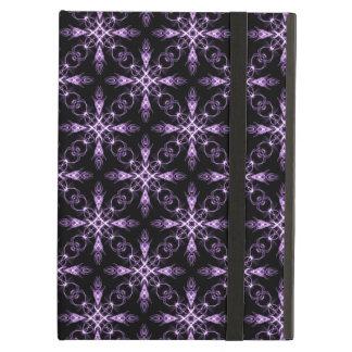 Gothic Floral Black and Purple Fractal Art iPad Air Case