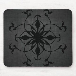 Gothic flower in black and gray mouse mat