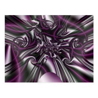 Gothic Fractals Misty Silk Postcard