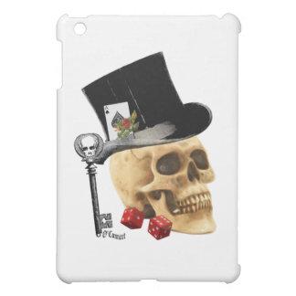 Gothic gambler skull tattoo design iPad mini cases