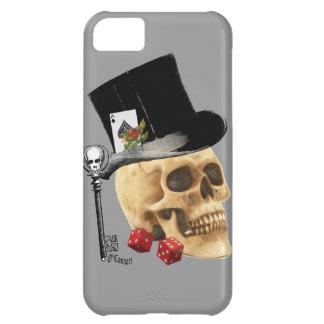Gothic gambler skull tattoo design iPhone 5C case