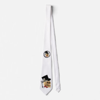 Gothic gambling skull bachelor party tie