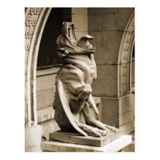 Gothic gargoyle postcard