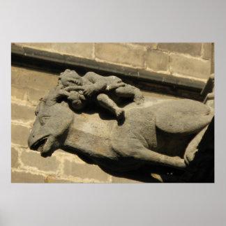 Gothic gargoyles poster