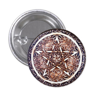 Gothic Gate Pentacle Button Pin