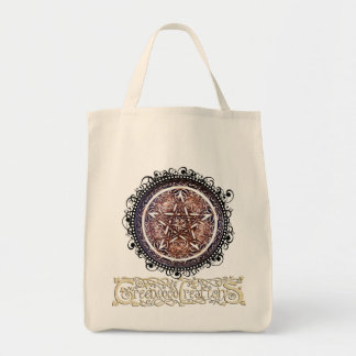 Gothic Gate Pentacle - Grocery Tote with Logo