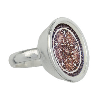 Gothic Gate Pentacle Ring
