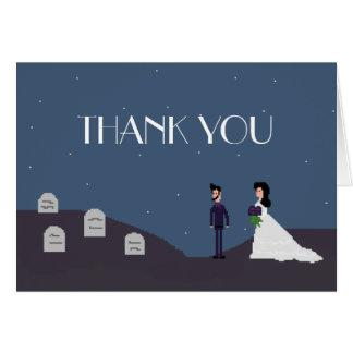 Gothic Geek Gamer Wedding Thank You Card