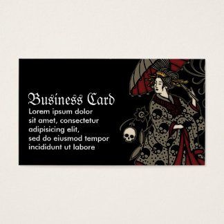 Gothic Geisha Business Card