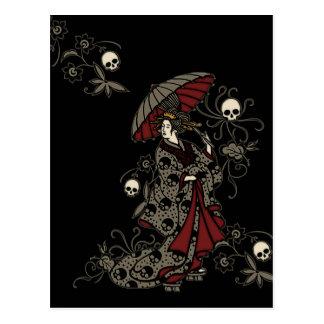 Gothic Geisha Postcard