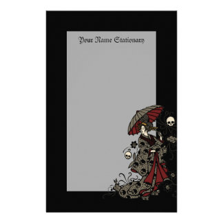 Gothic Geisha Stationery Paper