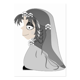 Gothic Ghost Girl Pack Of Chubby Business Cards