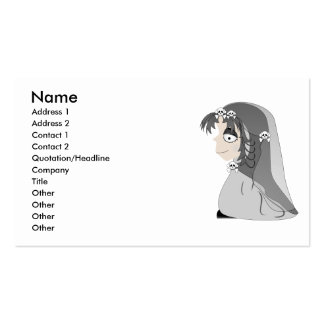 Gothic Ghost Girl Pack Of Standard Business Cards