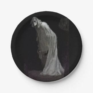 Gothic ghost paper plate