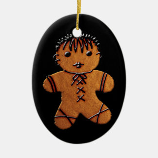 Gothic Gingerbread Cookie Ceramic Oval Decoration