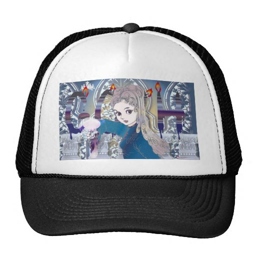Gothic girl02 mesh hats