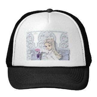 Gothic girl02b trucker hat