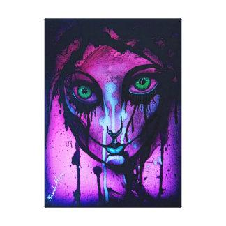 Gothic girl canvas print
