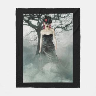 Gothic Girl Fleece Blanket