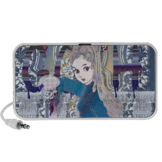 Gothic girl notebook speakers