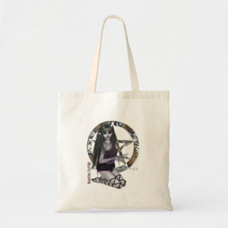 Gothic Girl With Pentacle Budget Tote Bag