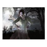 Gothic Girls Forever Damned Postcard