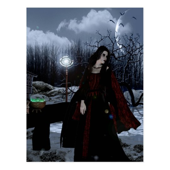Gothic Girls Gypsy Magic fantasy postcard
