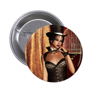 Gothic Girls The Birdcage Steampunk 6 Cm Round Badge