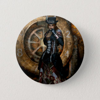 Gothic Girls Time To Spare Steampunk 6 Cm Round Badge