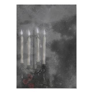 Gothic Glow Candle Light Roses Wedding set Card