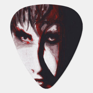 Gothic God Post Punk Goth Music Man Portrait Art Guitar Pick