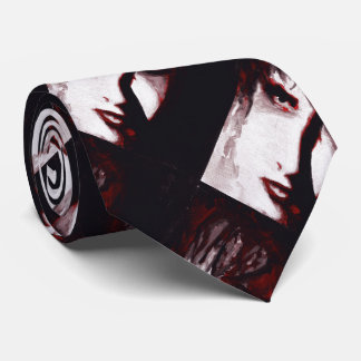 Gothic God Post Punk Goth Music Man Portrait Art Tie