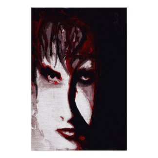 Gothic God Post Punk Goth Original Art Poster