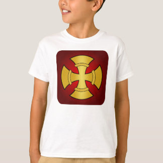 Gothic Gold and Red Cross T-Shirt