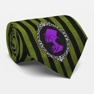 Gothic green and purple tie