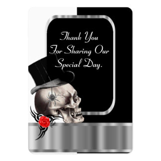 Gothic groom black wedding favor thank you tag pack of chubby business cards