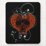 Gothic Grunge Broken Heart Skull Mouse Mat