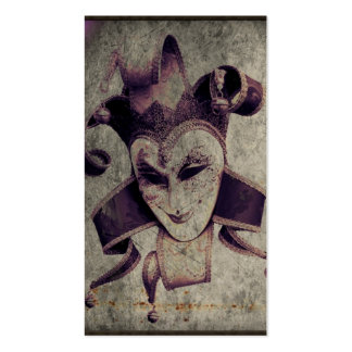 gothic grunge renaissance  joker vintage business cards