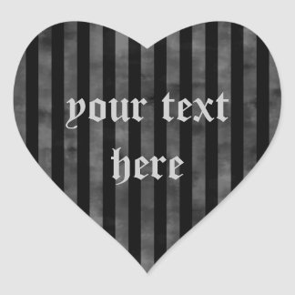 Gothic grungy black and gray stripes stickers
