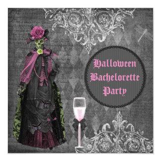 Gothic Halloween Bride Shabby Chic Bachelorette 13 Cm X 13 Cm Square Invitation Card