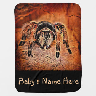 Gothic Halloween creepy crawlies spider Tarantula Baby Blanket