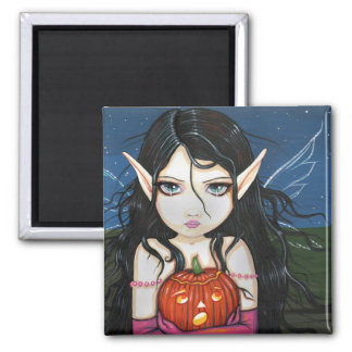 Gothic Halloween Fairy Art Magnet