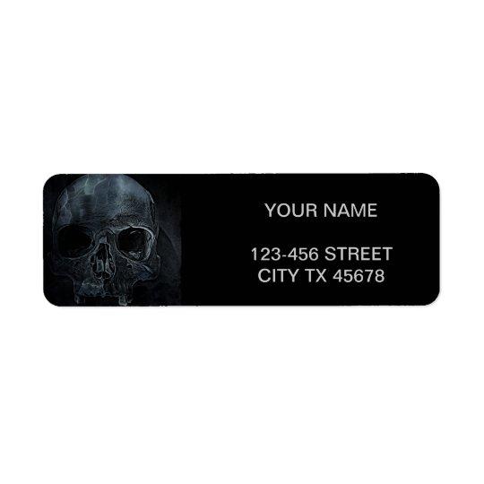 Gothic halloween medical skeleton bone Xray Skull Return Address Label